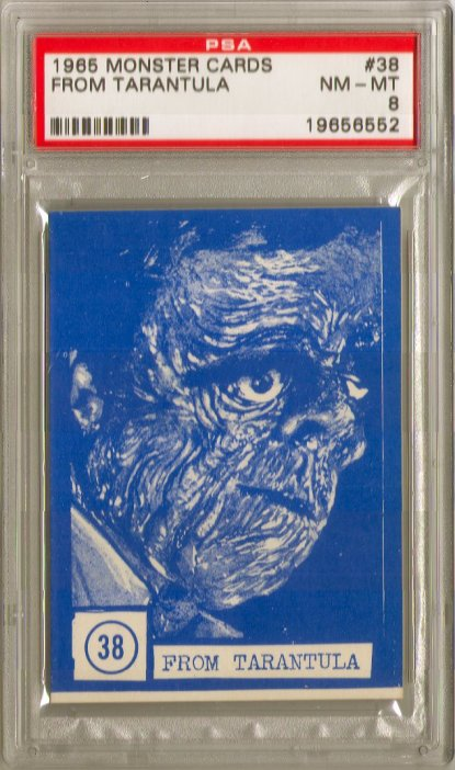Monster Cards (blue series, 1965) #38: From Tarantula