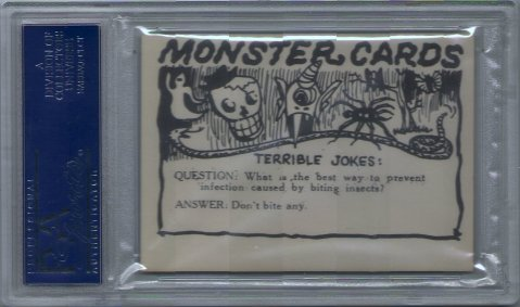 Monster Cards (blue series, 1965) #38: Terrible Joke