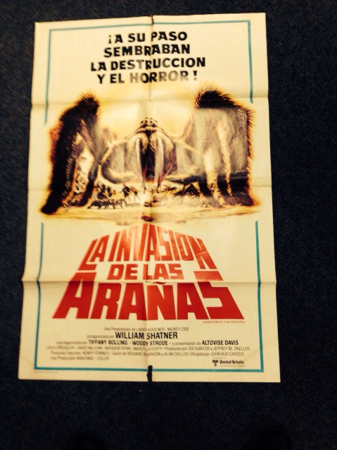 Argentinian Poster of Kingdom of the Spiders (Phone Pic)