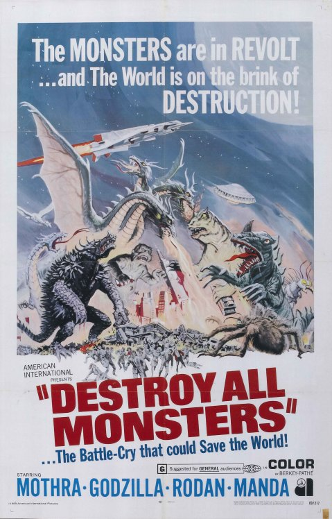 Destroy All Monsters - English Mini Promo Poster (Reproduction)