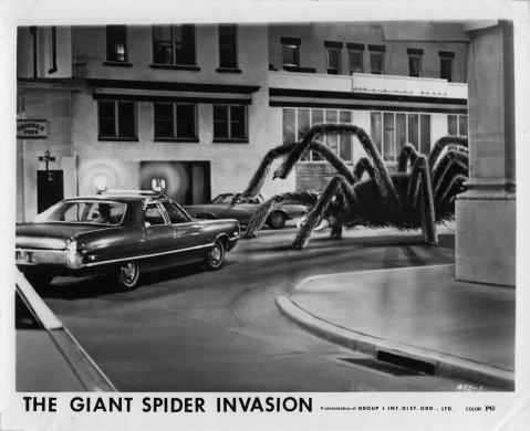 The Giant Spider Invasion - Police Car Promotional Still