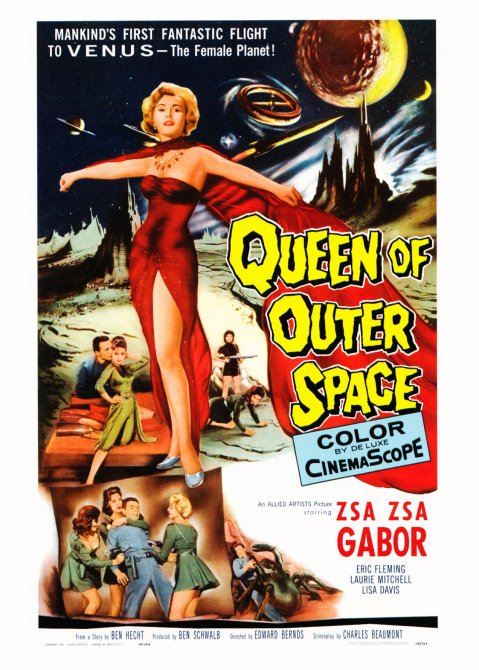 Queen of Outer Space - MoMA Postcard