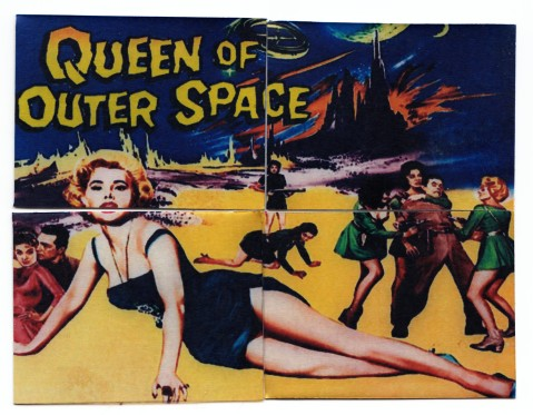 Queen of Outer Space - Metal Puzzle Cards (back)