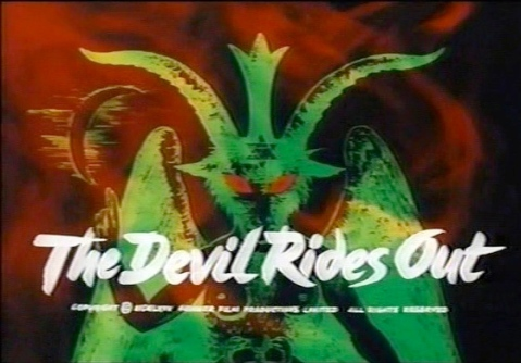 The opening titles are a wash of swirling smoke and green symbols of the occult.