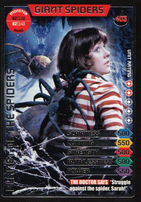 Giant Spiders Doctor Who Card