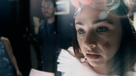 Director Danielle Harris has a cameo as Bernadette in Jules' hallucination.