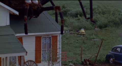 The Giant spider attacks the Kester farm.