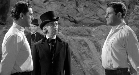 Servadac and Denning prepare to duel over a women about whom they'll both soon forget.